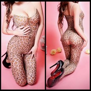 ❤️NEW Sexy Leopard Open Crotch Lingerie #L040